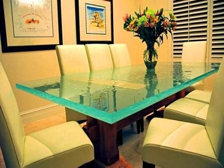 Custom Green Glass Table Top